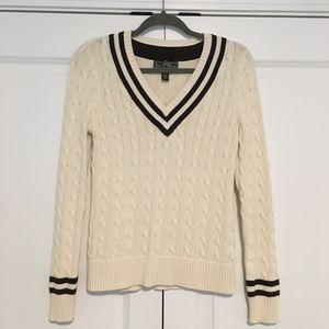 Ralph Lauren V-Neck Sweater - SMALL